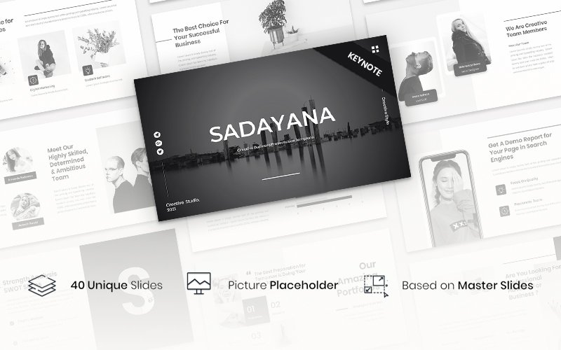"Tema Keynote #157584 ""Sadayana - Creative Business Presentation"""