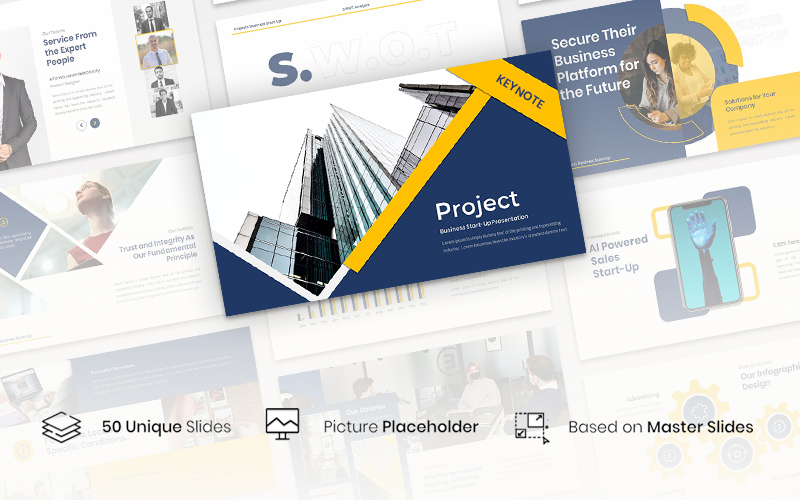 "Template Keynote #157579 ""Project - Business Start-Up"""