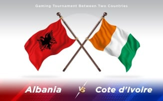 Albania versus Cote d'Ivoire Two Countries Flags