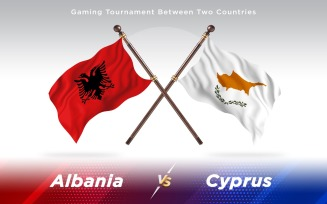 Albania versus Cyprus Two Countries Flags