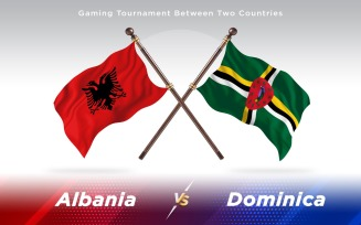 Albania versus Dominica Two Countries Flags