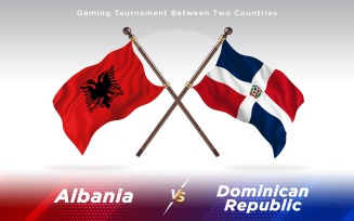 Albania versus Dominican Republic Two Countries Flags