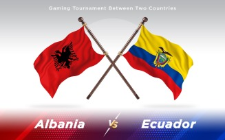 Albania versus Ecuador Two Countries Flags