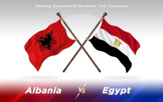 Albania versus Egypt Two Countries Flags