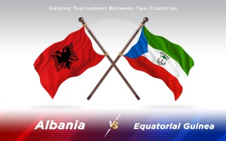 Albania versus Equatorial Guinea Two Countries Flags