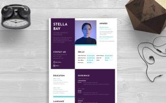 CV Adobe inDesign Resume Template