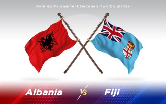 Albania versus Fiji Two Countries Flags