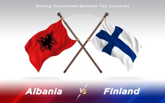 Albania versus Finland Two Countries Flags