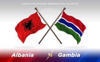 Albania versus Gambia Two Countries Flags