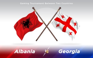 Albania versus Georgia Two Countries Flags