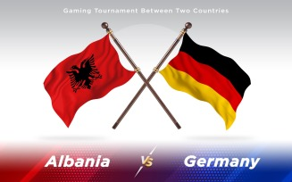 Albania versus Germany Two Countries Flags