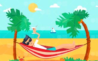 Sun and Sea Vacation On The Island