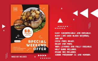Special Weekend Promotional Food Sale Flyer