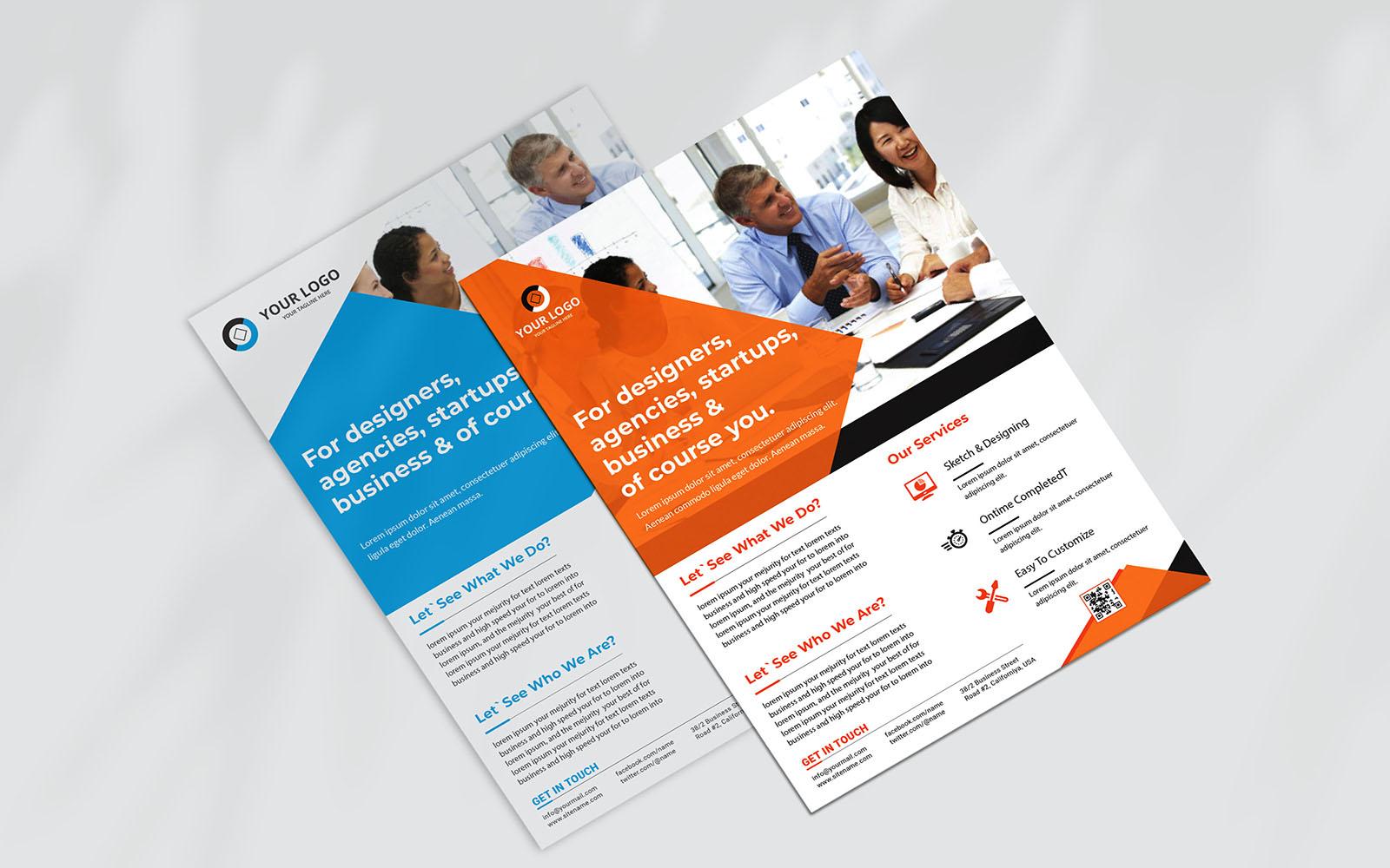 """Unternehmensidentität Vorlage namens """"Business Flyer Design"""" #157738"""