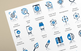 750 Business Management Icon Set
