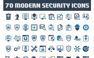 70 Modern Security Icon Set