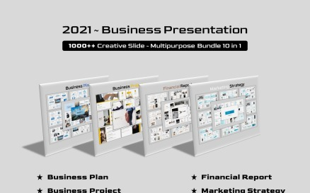 Business Bundle 10 in 1 PowerPoint Template
