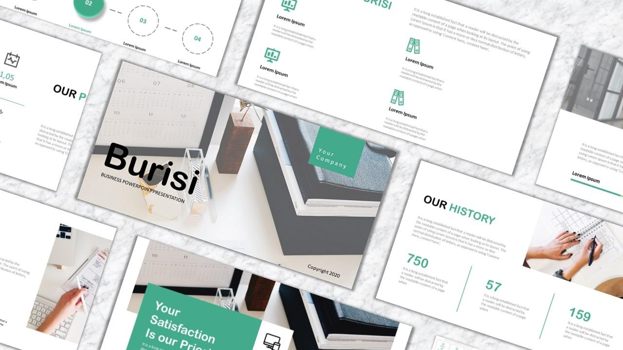 """""""Burisi"""" modèle PowerPoint Premium #157925"""