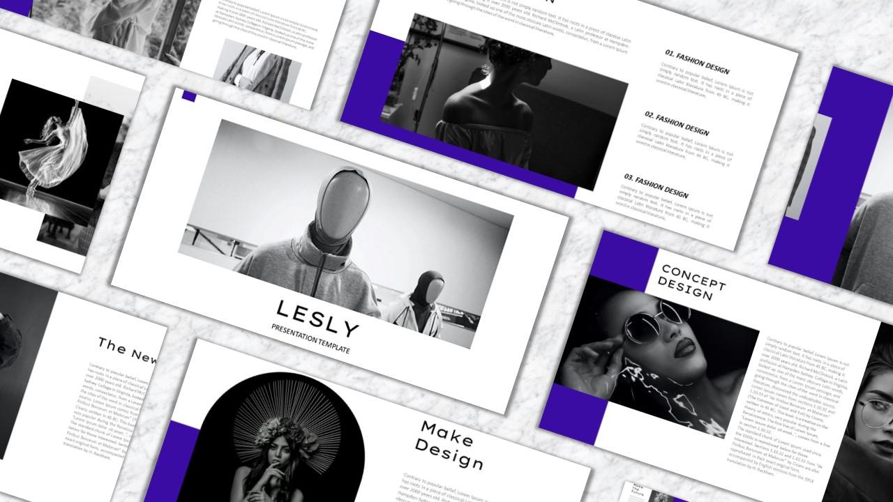 """""""LESLY"""" modèle PowerPoint Premium #157922"""
