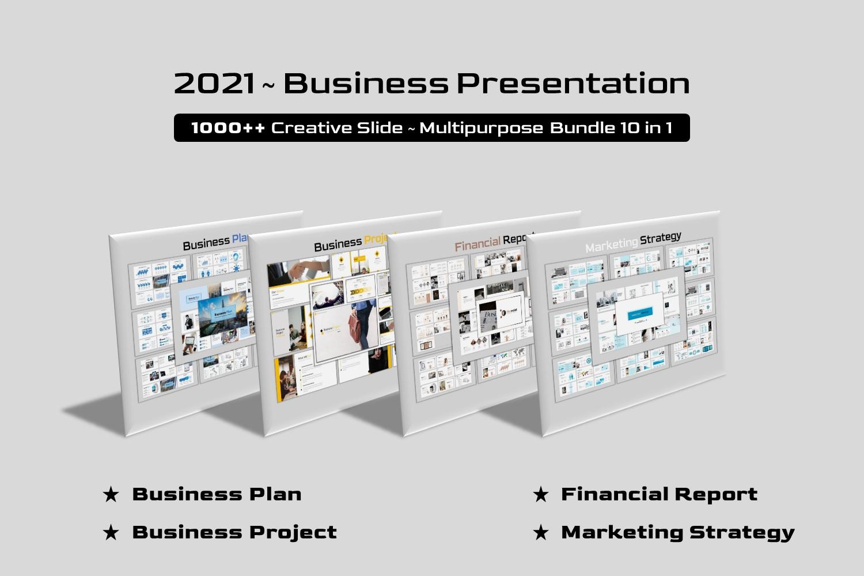 "Luxusní PowerPoint šablona ""Business Bundle 10 in 1"" #157920"