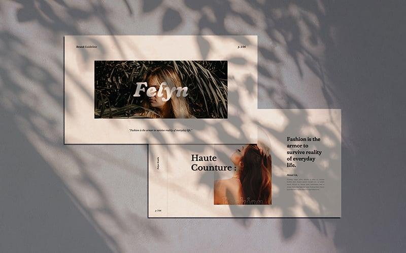 "PowerPoint šablona ""Felyn - Brand Guideline"" #157921"