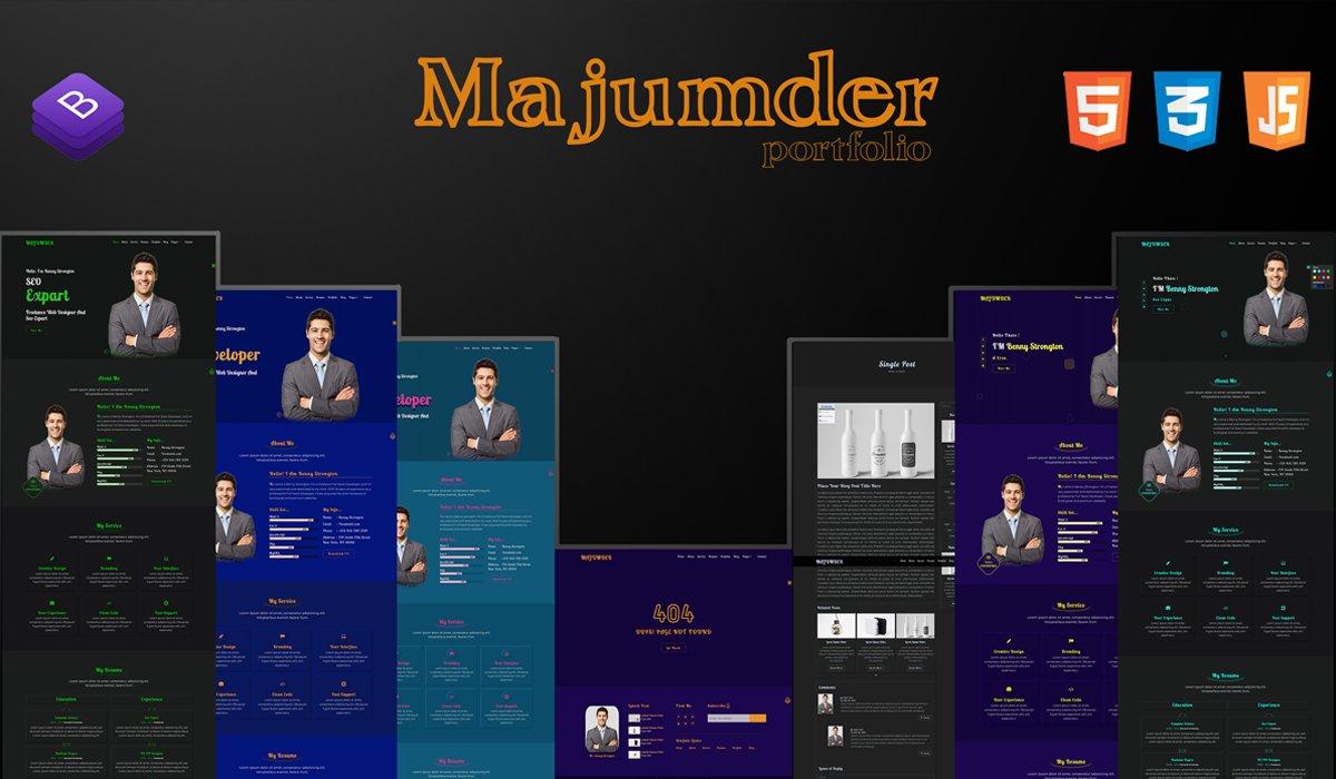 Responsivt MAJUMDER-2 Portfolio Landing Page-mall #157942