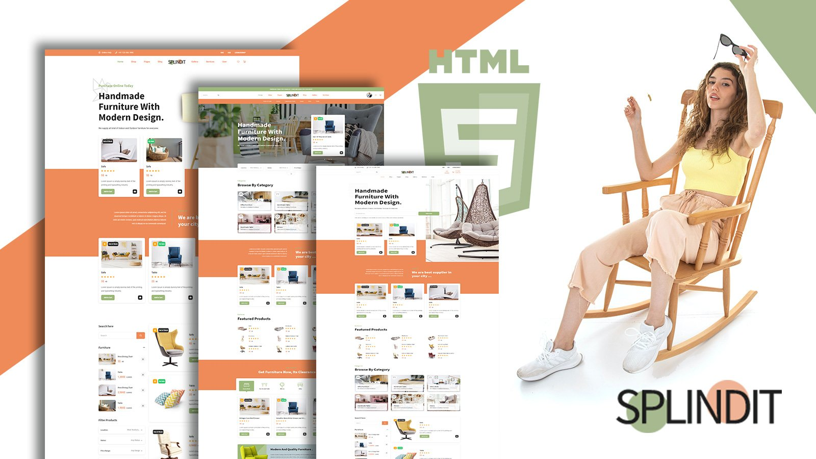"""Splindit - Furniture Shop"" Responsive Website template №157937"