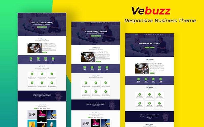 """""""VeBuzz - Responsive Business Service Website"""" 响应式着陆页模板 #157935"""