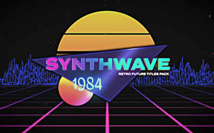 Synthwave Retro Future Titles Premiere Pro Template