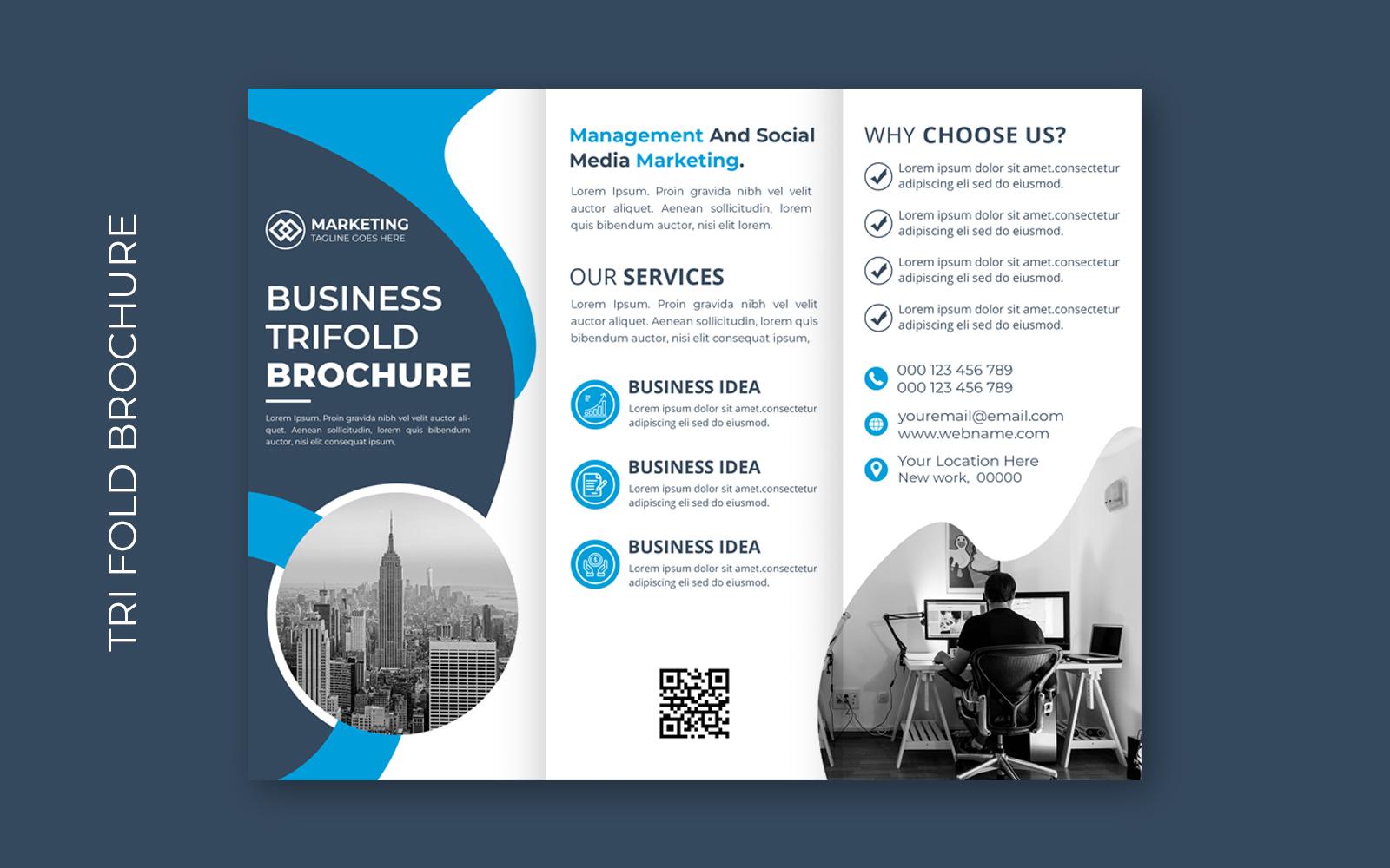"Plantilla De Identidad Corporativa ""Business Trifold Brochure"" #158206"