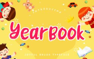 Yearbook Joyful Brush Typeface Font