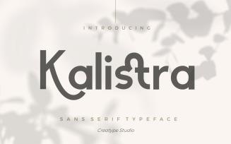 Kalistra Sans Serif Typeface Font