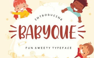 Babyque Fun Sweety Typeface