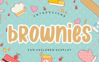 Brownies Fun Children Display Font