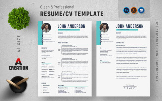 Clean & Professional Editable Resume Template