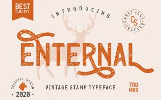 Enternal Vintage Stamp Typeface Font