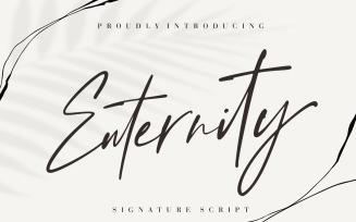 Enternity Signature Cursive Font