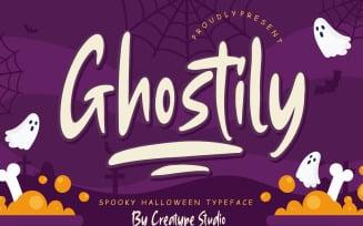 Ghostily Spooky Halloween Typeface Font