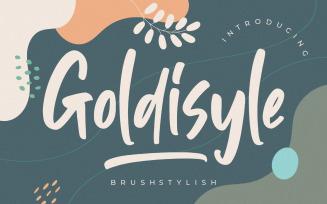 Goldisyle Brush Stylish Font