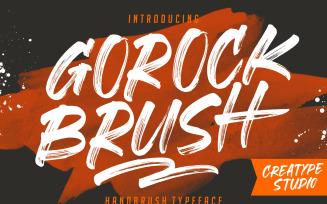 Gorock Brush Typeface Font