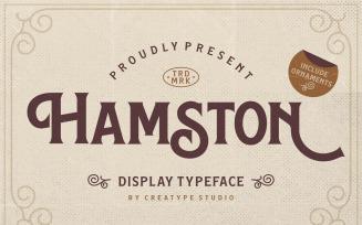 Hamston Display Vintage Font