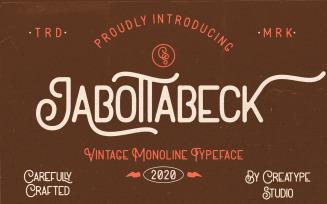 Jabottabeck Vintage Monoline Font