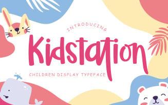 Kidstation Fun Children Display Font