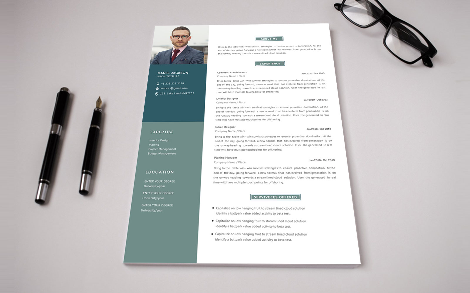 "Lebenslauf-Vorlage namens ""Corporate CV"" #158360"