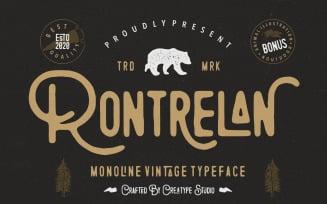 Rontrelan Monoline Vintage Font