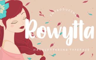 Rowytta Handlettering Typeface Font