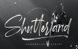 Shutterland Handbrush Cursive Font