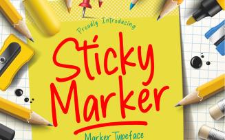 Sticky Marker Typeface Font