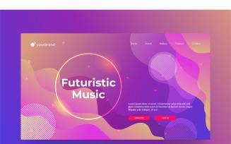Abstract Futuristic Music