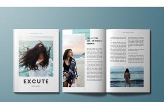 Excute Magazine Template
